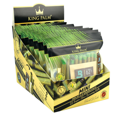 King Palm Hand Rolled Leaf - 25ct / Mini - 8pc Display