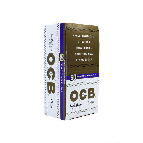 OCB Sophistique Rolling Paper  Box 32 Booklets  + Tips