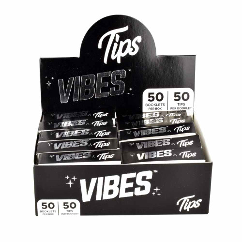 Vibes Tips Rolling Paper 50 Pk. 1 1/4