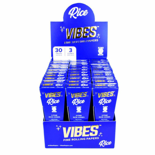 Vibes Rice Cones Rolling Paper- Kingsize Slim 30 Pc