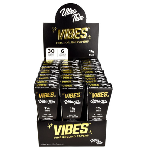 VIBES Ultra Thin Cones 1 1/4 | 30pc Display