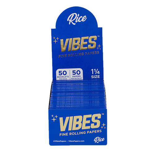 VIBES Rice Rolling Papers 1 1/4 | 50pc Display