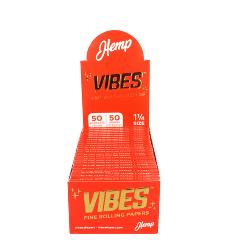 VIBES Hemp Rolling Papers 1 1/4 | 50pc Display