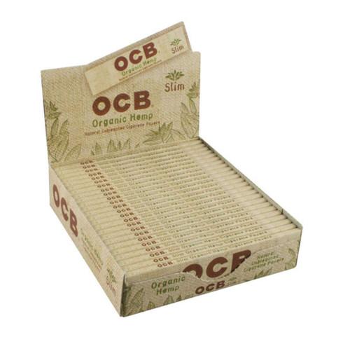 OCB Organic Hemp Rolling Papers | Slim | 24pc Display