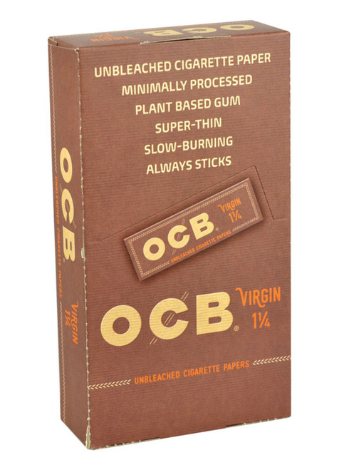 "OCB Virgin Rolling Papers 1 1/4""  24 Packs"
