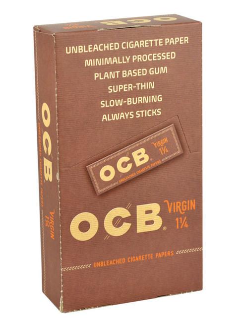 """OCB Virgin Rolling Papers 1 1/4""""  24 Packs"""