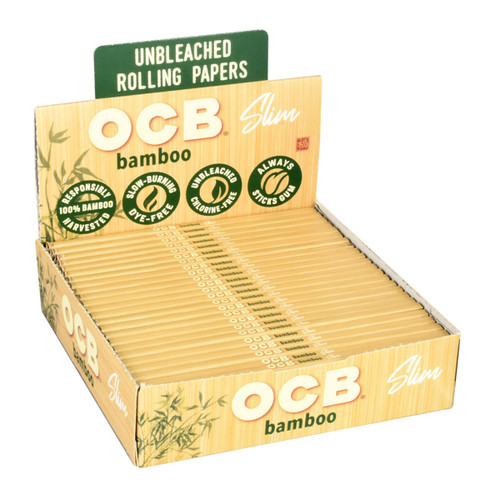 OCB Bamboo Rolling Papers  Slim 24 Packs