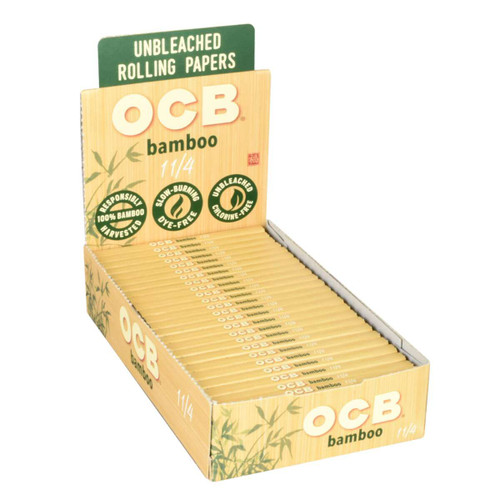 OCB Bamboo Rolling Papers 1 1/4″  24 Packs