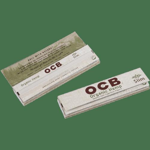 OCB Organic Hemp Rolling Papers King Size Slim Plus Tips 24/32 Ct. Box