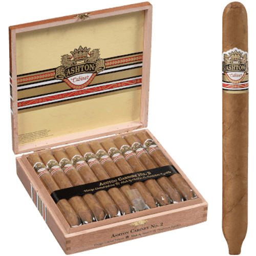 Ashton Cabinet Cigar #2 Churchill  20 Ct. Box