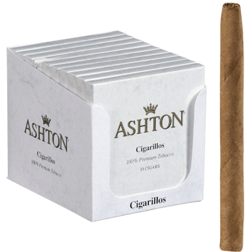 Ashton Cigarillos 10/10 Packs Natural
