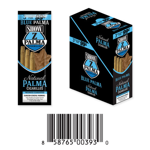 Z Palma Natural Cigarillo Foil Pack Blue Palma
