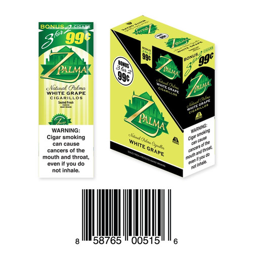 Z Palma Natural Cigarillo Foil Pack White Grape