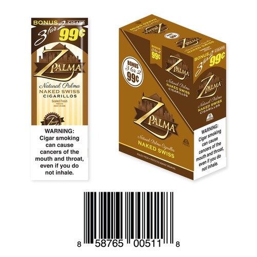 Z Palma Natural Cigarillo Foil Pack Naked Swiss
