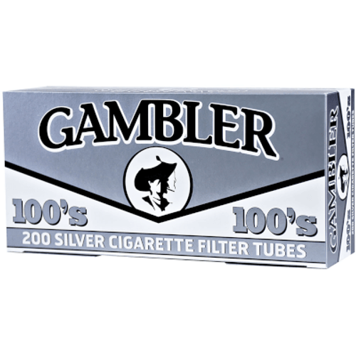Gambler Cigarette Filter Tubes 100mm Silver 5/200 Ct