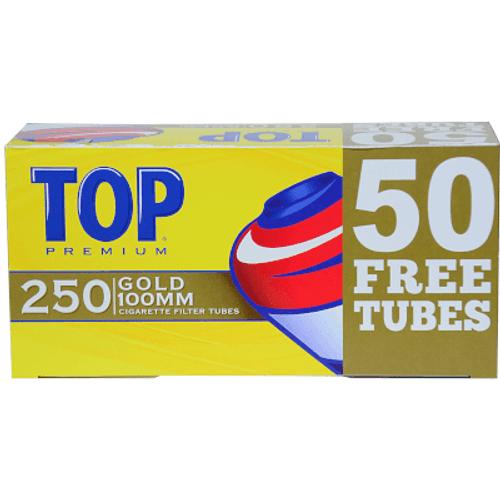 Top Cigarette Filter Tubes 100mm Gold Bonus 250 Ct. Box