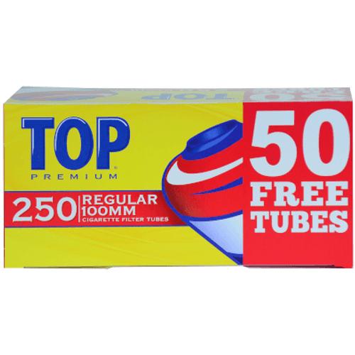 Top Cigarette Filter Tubes 100mm Regular Bonus 250 Ct. Box