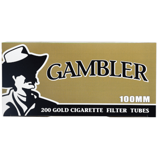 Gambler Cigarette Filter Tubes 100mm Gold 5-200 Ct. Boxes