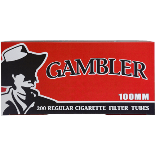 Gambler Cigarette Filter Tubes 100mm Regular 5/200 Ct. Boxes