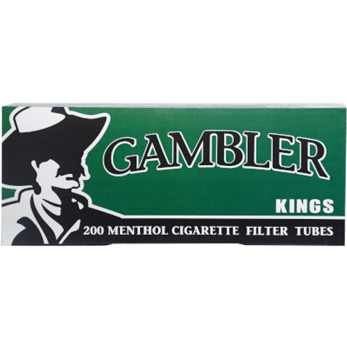 Gambler Cigarette Filter Tubes King Size Menthol 5/200 Ct. Boxes
