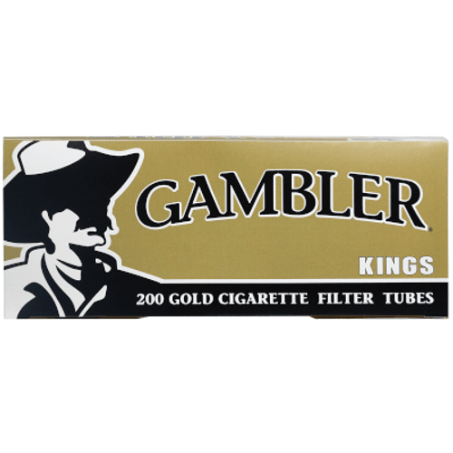 Gambler Cigarette Filter Tubes King Size Gold 5/200 Ct. Boxes