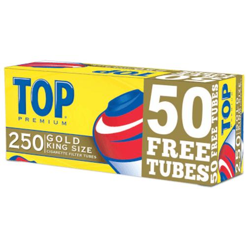 Top Cigarette Filter Tubes King Size Gold Bonus 250 Ct. Box