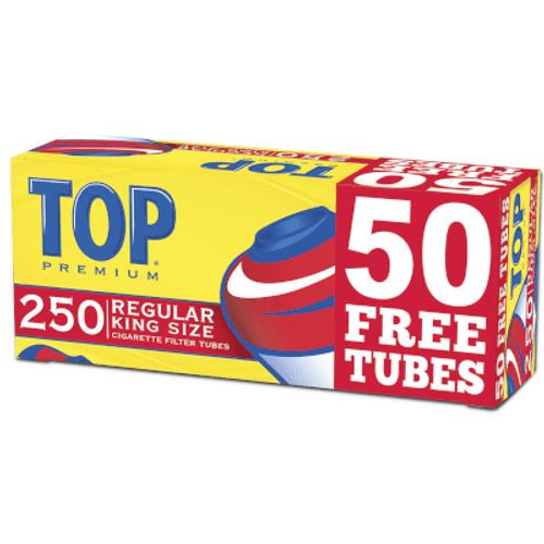 Top Cigarette Filter Tubes King Size Regular Bonus 250 Ct. Box