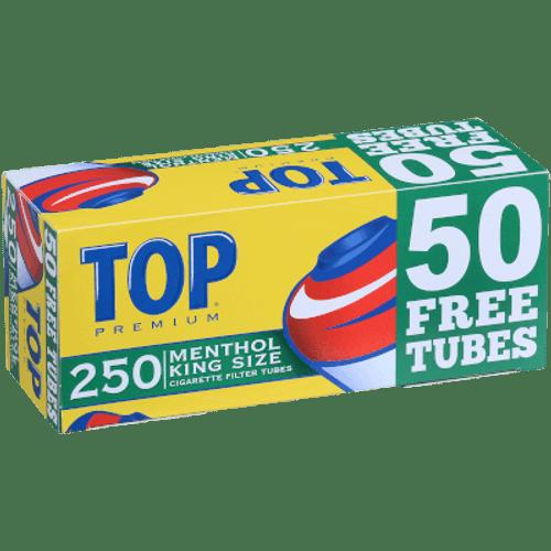 Top Cigarette Tubes Top King Size Menthol Bonus 250 Ct. Box