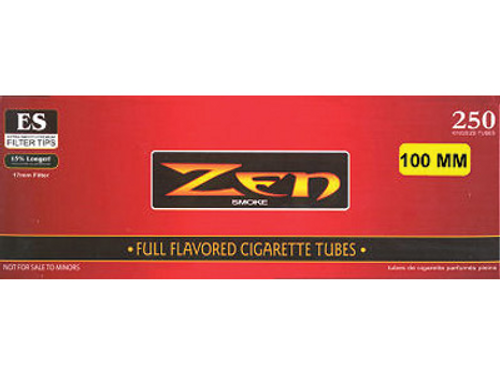 Zen Cigarette Filter Tubes 100mm Full Flavor 250 Ct. Box