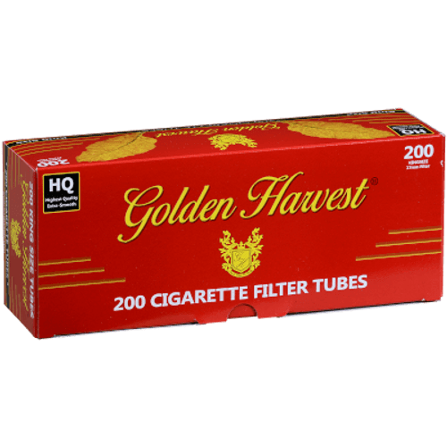 Golden Harvest Red King Size Cigarette FilterTubes 200Ct. Carton