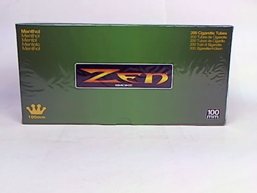 Zen Cigarette Filter Tubes 100mm Menthol Flavor 200 Ct. Box