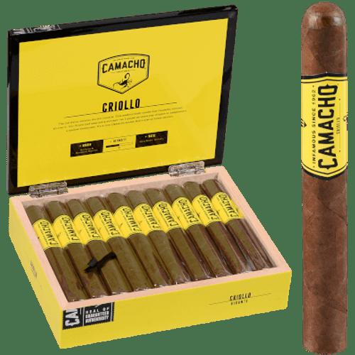 """Camacho Criollo Cigar Gigante 20 Ct. Box 6.50""""X54"""