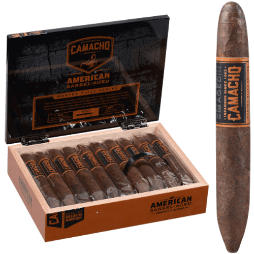 Camacho American Barrel-Aged Perfecto Cigar Gordo 20 Ct. Box