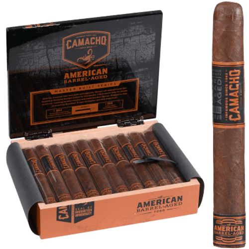Camacho American Barrel-Aged Cigar Toro 20 Ct. Box