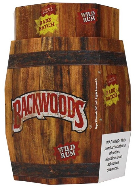 Backwoods Wild Rum Cigars 40Ct Display Barrel