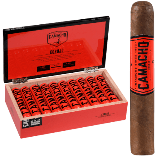 Camacho Corojo Cigar Robusto Tubo 20 Ct. Box