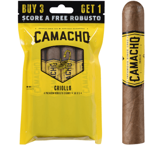 Camacho Criollo Cigar Robusto 5/4 Ct. Fresh Pack