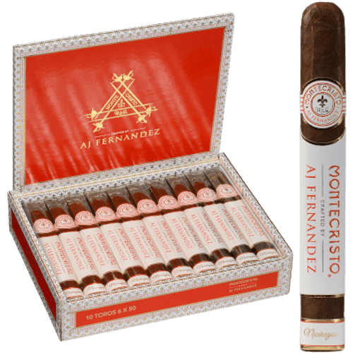 Montecristo Crafted By Aj Fernandez Cigars Toro 10 Ct. Box