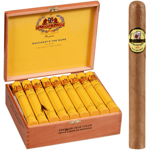 Baccarat Cigars Luchadores Natural Tubo 25 Ct. Box 6.00X44