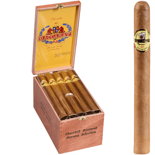 Baccarat Cigars Churchill Natural 25 Ct. Box 7.00X48