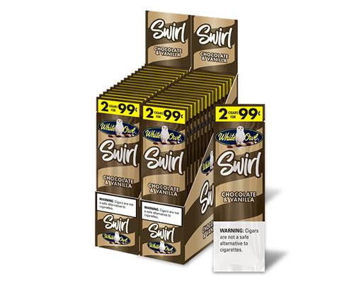 White Owl Cigarillos Swirl Chocolate & Vanilla 30 Pouches of 2