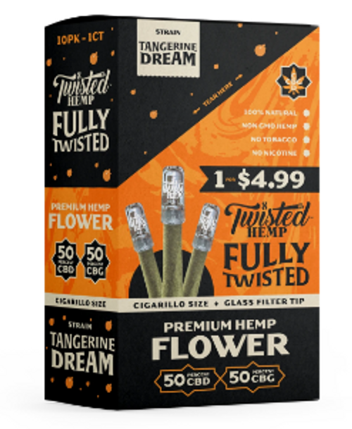 Twisted Wraps Hemp Flower Blunts (10PC) - Tangerine Dream