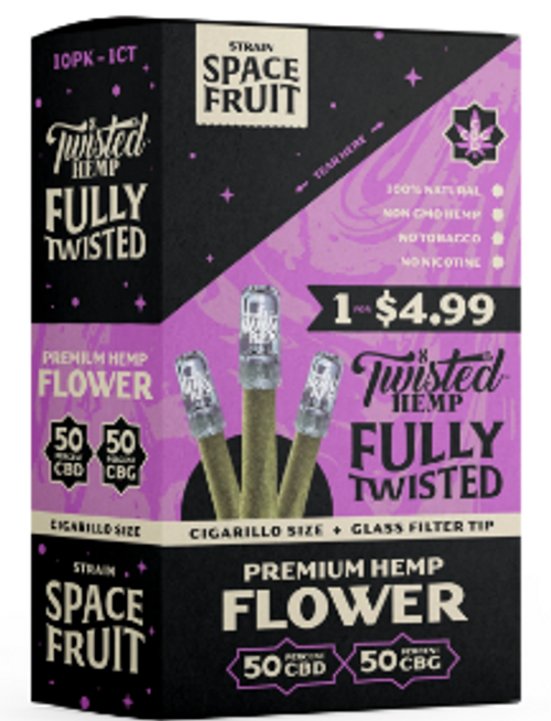 Twisted Wraps Hemp Flower Blunts (10PC) Space Fruit