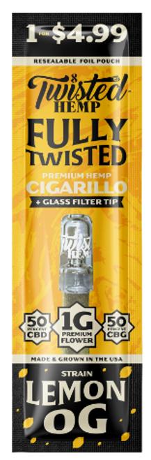 Twisted Wraps Hemp Flower Blunts (10PC) Lemon OG