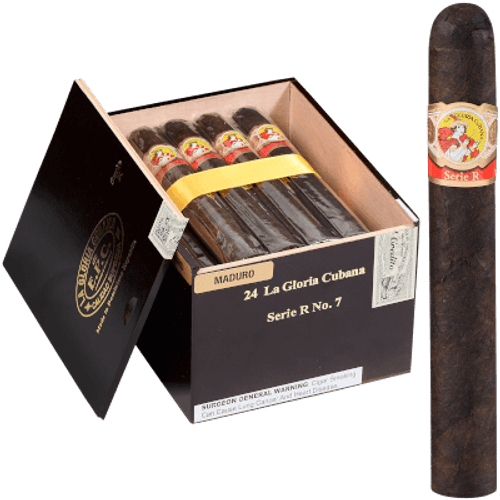 La Gloria Cubana Cigars Serie R No. 7 Maduro (No Cello) 24 Ct. Box 7.00X59