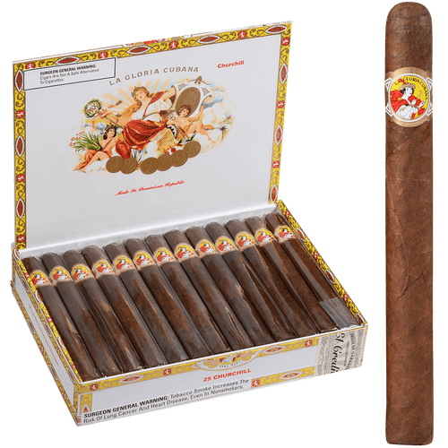 La Gloria Cubana Cigars Churchill Natural 25 Ct. Box 7.00X50