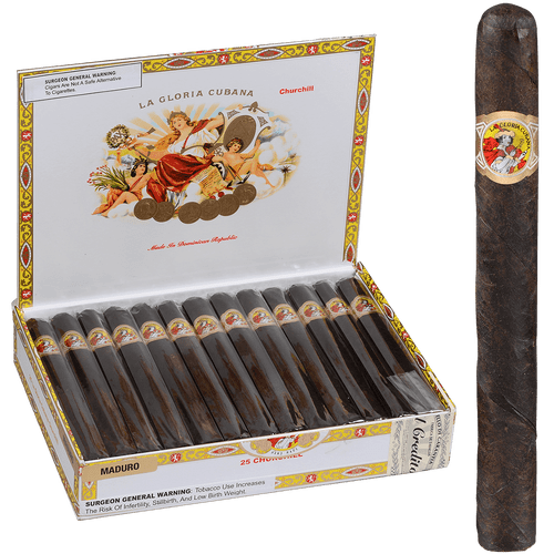 La Gloria Cubana Cigars Churchill Maduro 25 Ct. Box 7.00X50