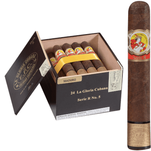 La Gloria Cubana Cigars Serie R No. 5 Natural (No Cello) 24 Ct. Box 5.50X54