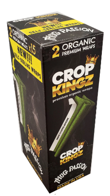 Crop Kingz Premium Organic Hemp Wraps Thug Passion