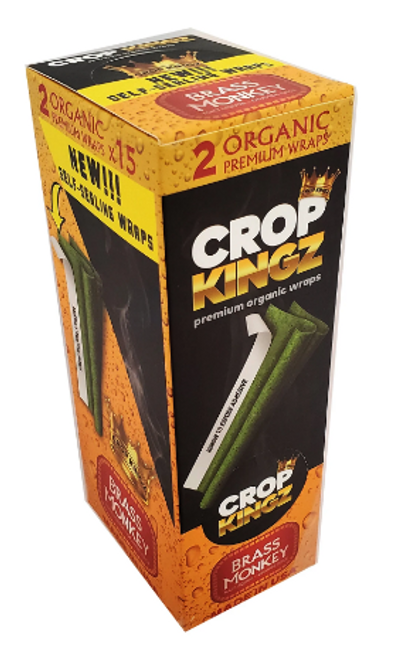 Crop Kingz Premium Organic Hemp Wraps Brass Monkey